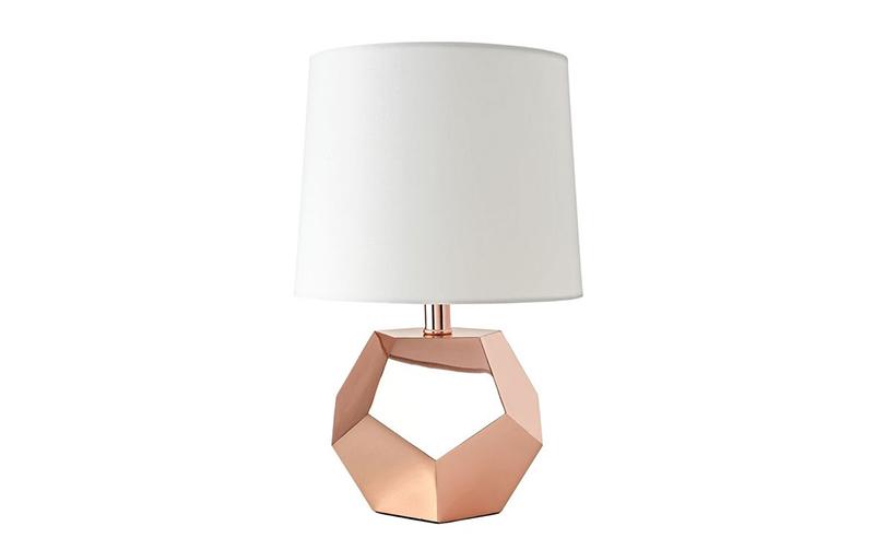 rosegold lamp