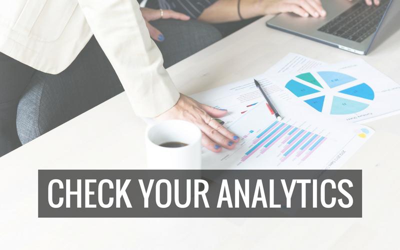 Check your analytics