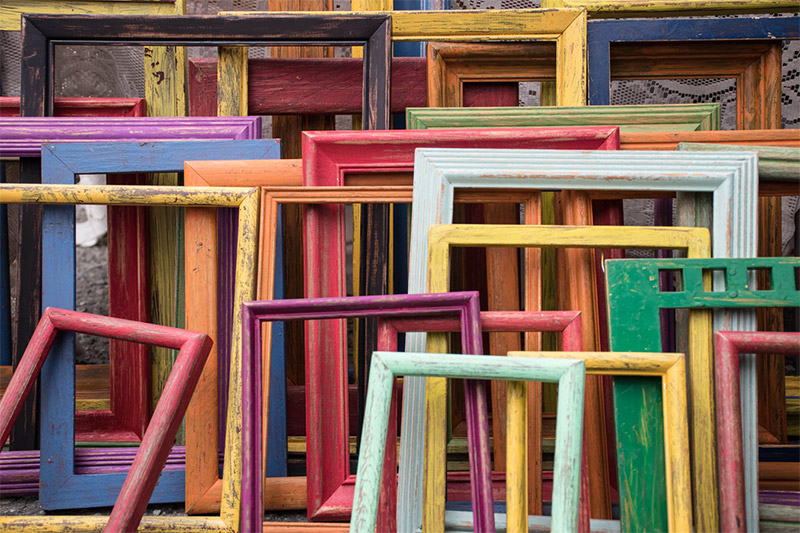 colourful picture frames