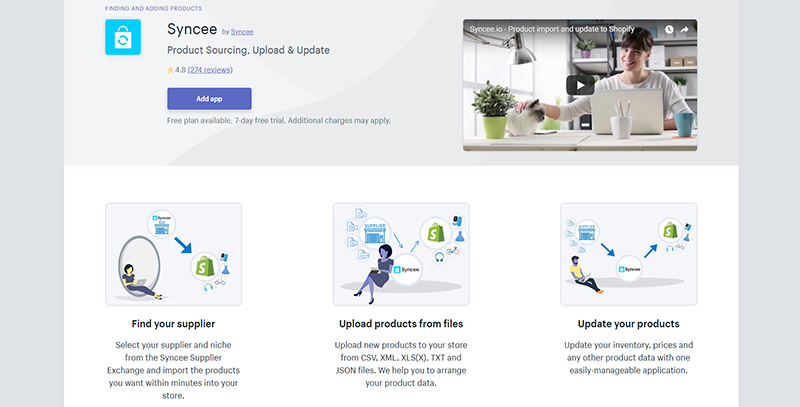 syncee, shopify app store