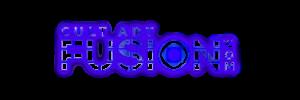 logótipo de fusão de arte cult
