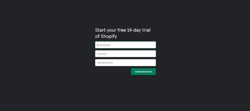 Commencez votre essai gratuit de 14 jours et commencez à vendre sur Shopify