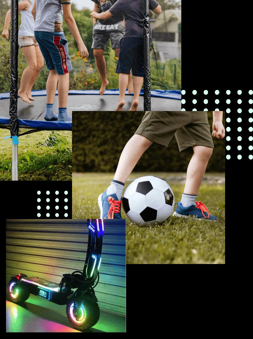 les équipements sportifs et de plein air