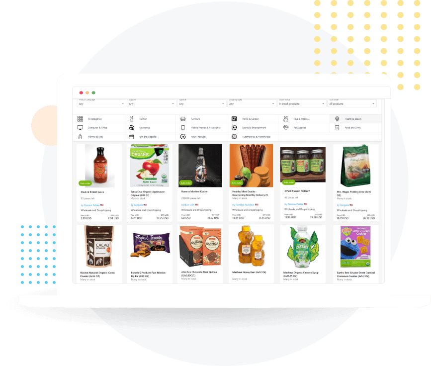 Dropshipping food and drink