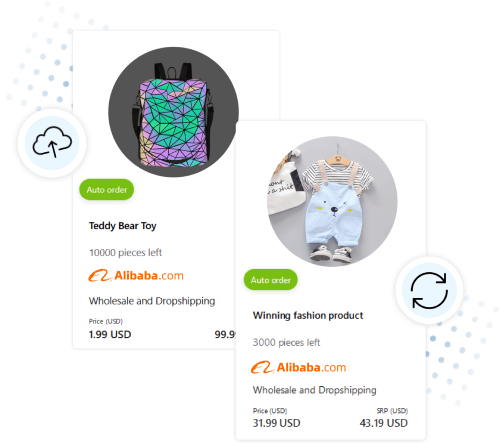 alibaba products upload