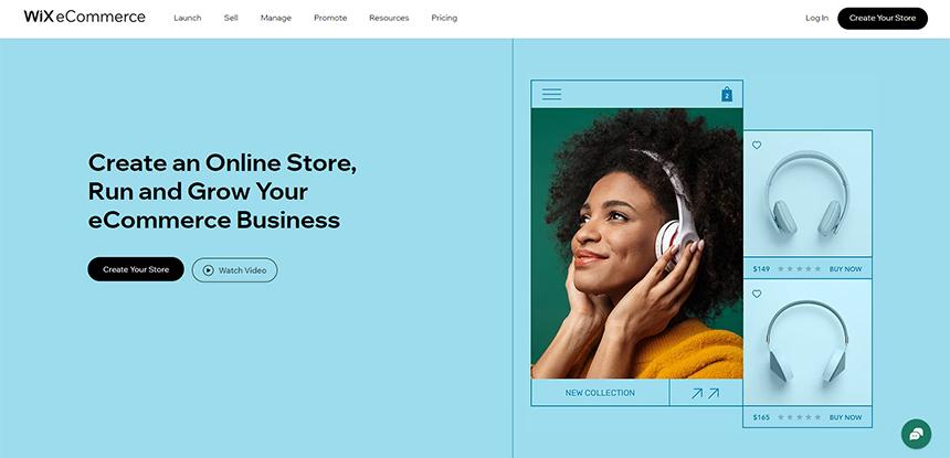 Wix e-kereskedelmi platform