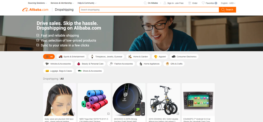Dropshipping with Alibaba.com and Syncee