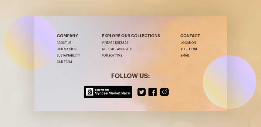 Syncee Marketplace Badge in Footer