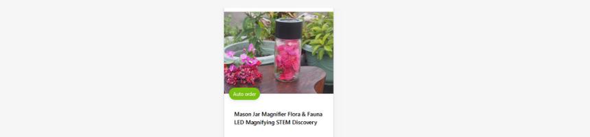 Mason Jar Magnifier