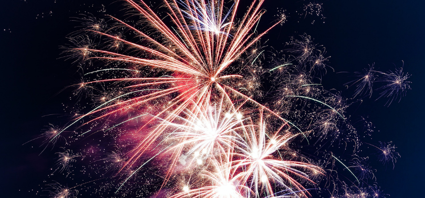 Fireworks in January as the New Year begins which is one of the most important holidays for online stores