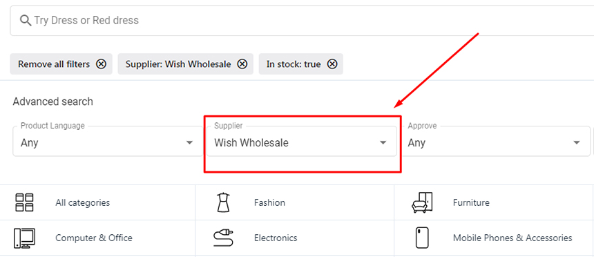 Find Wish Wholesale on Syncee Marketplace