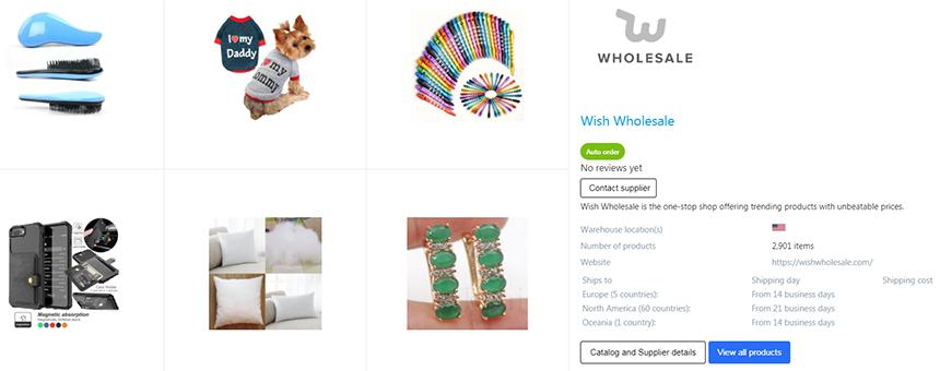 Wish Wholesale on Syncee Marketplace
