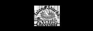 logo des requins des îles en chocolat